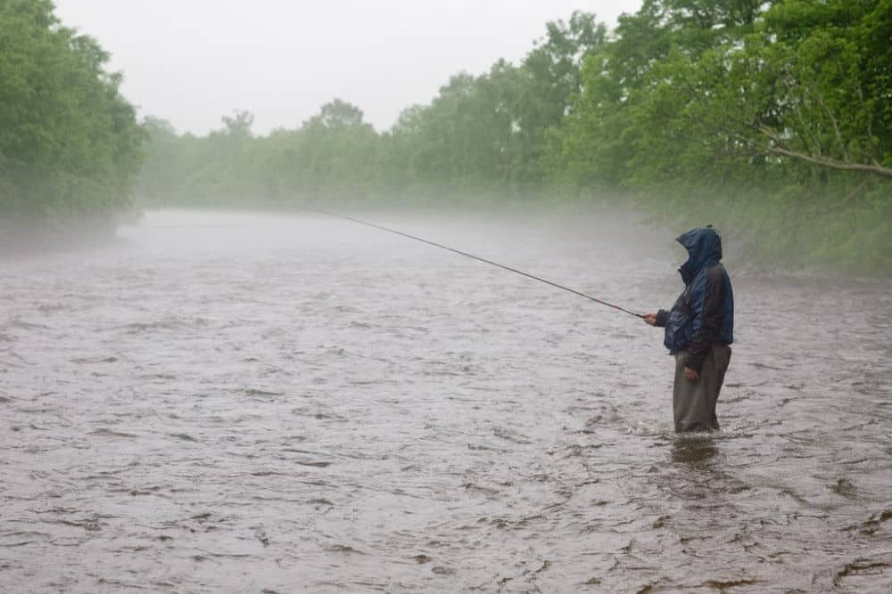 should you fish in the lake during the rain
