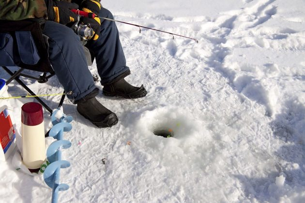 how to keep ice fishing holes from freezing