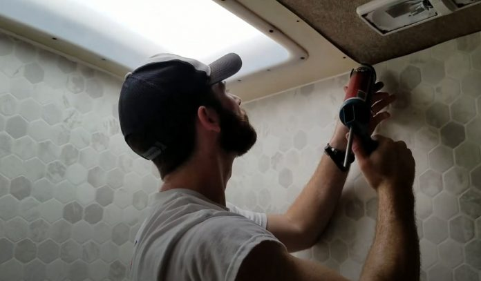 how to waterproof rv shower walls