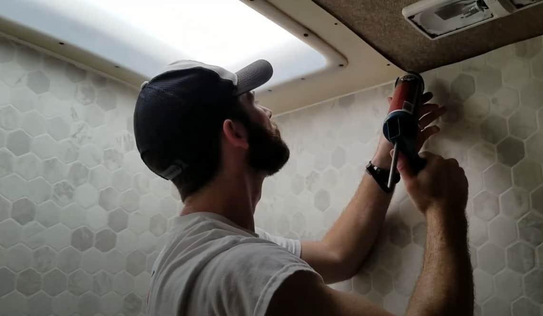 how to waterproof rv shower walls