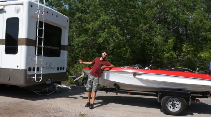 can you pull a boat behind a travel trailer
