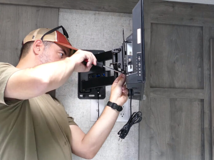 how to attach a tv mount to an rv wall
