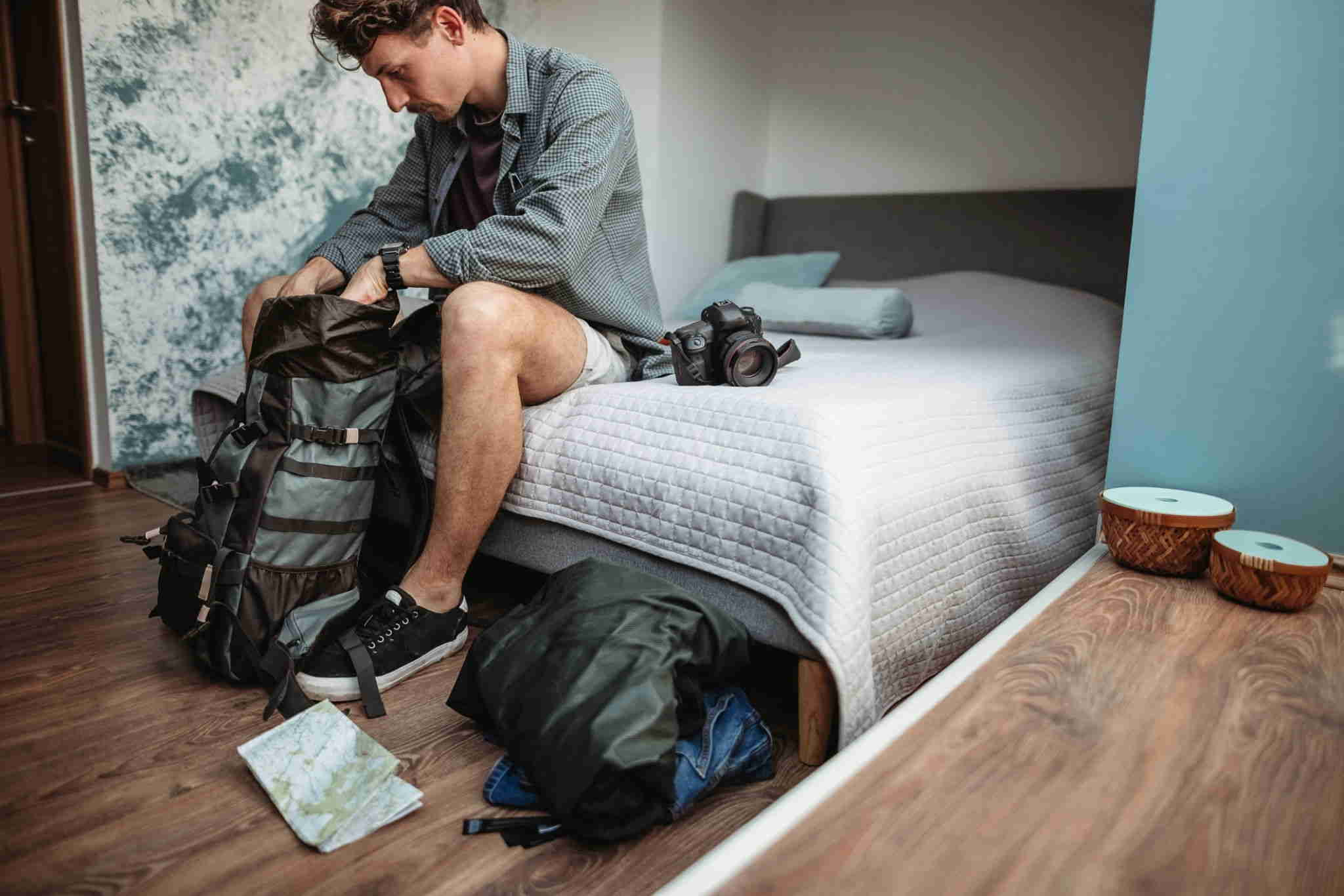 how to pack a hiking backpack for international plane travel