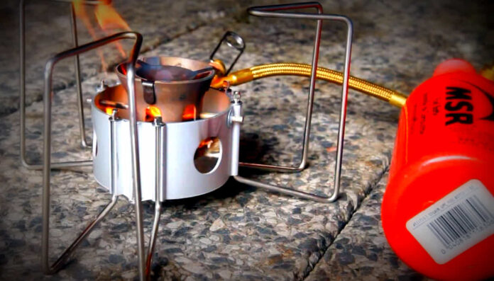 safety procedures for using a liquid fuel stove
